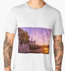 Sun Rise over Paris Notre Dame Men's Premium T-Shirt
