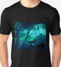 Shadow Wolves Stalk The Silver Wood Unisex T-Shirt