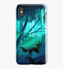 Shadow Wolves Stalk The Silver Wood iPhone Case/Skin