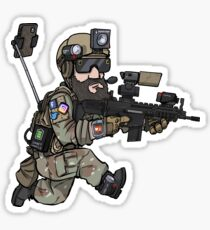 The social airsofter Sticker