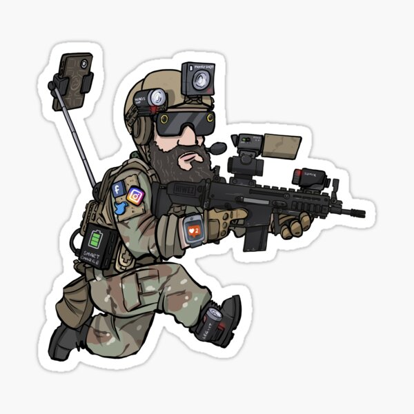 L'airsofter social Sticker