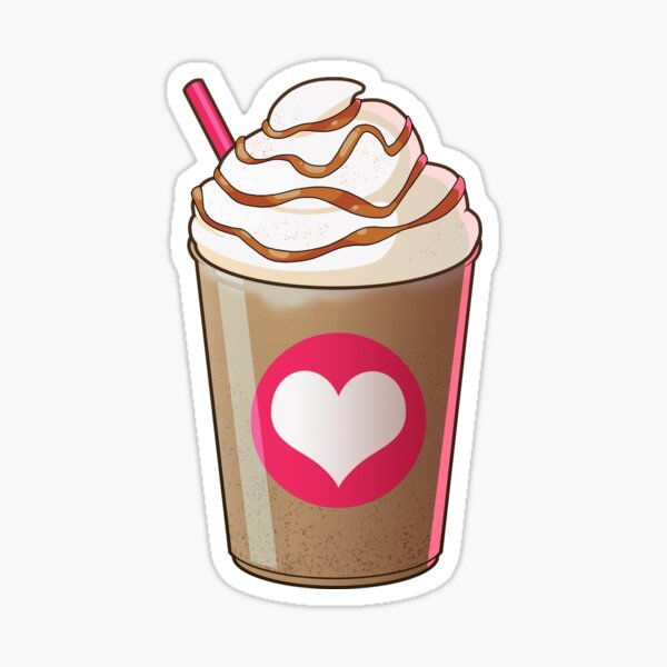 Caramel Frappe Sticker By Jungabeast Redbubble