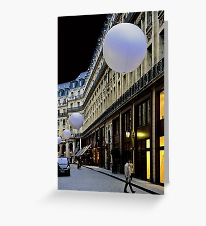 PARIS WITH SPHERES (CARD ONLY) Greeting Card