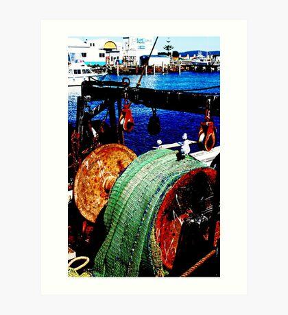 Das Fischerboot Kunstdruck