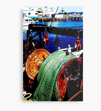 Das Fischerboot Metalldruck