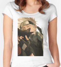Kakashi sensei Women's Fitted Scoop T-Shirt