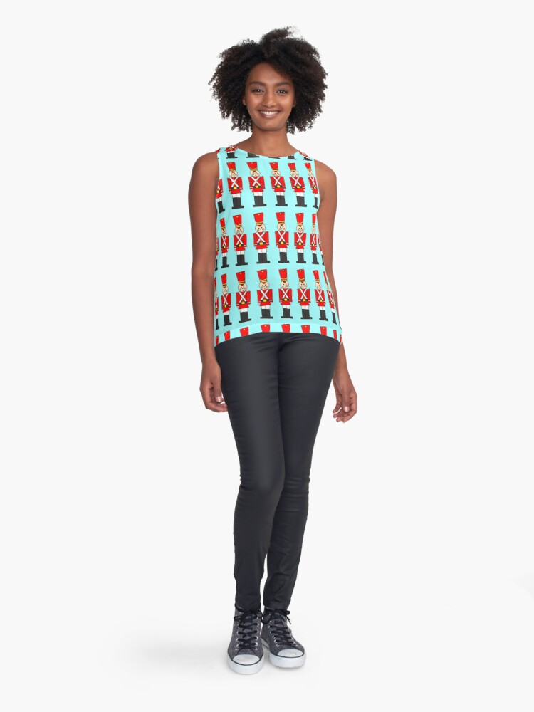 Alternate view of Holiday Toy Soldier Sleeveless Top