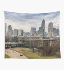 Charlotte Skyline (North Carolina) Wall Tapestry