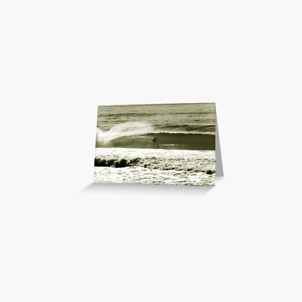 simon farrer.kneeboard surfing Greeting Card