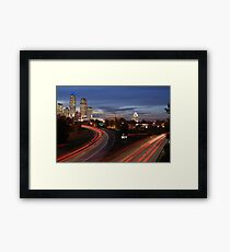 Charlotte Night Time Skyline (North Carolina) Framed Print