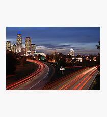 Charlotte Night Time Skyline (North Carolina) Photographic Print
