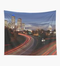 Charlotte Night Time Skyline (North Carolina) Wall Tapestry