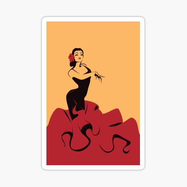 Llama flamenca Pegatina
