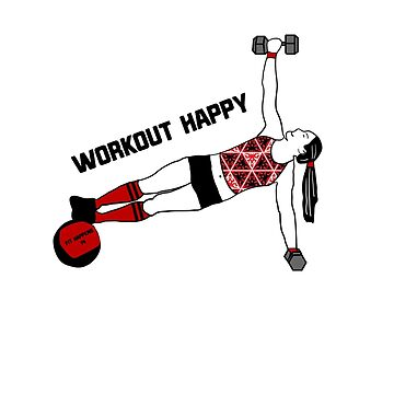 Workout happy with weights by FitWit