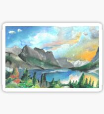 Montana landscape Sticker