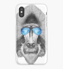 Cool Baboon In Sunglasses iPhone Case/Skin
