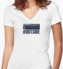 Blue Ridge Hiker! Women's Fitted V-Neck T-Shirt