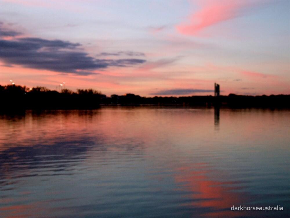 Sunset over the Australian Capital  by darkhorseaustralia