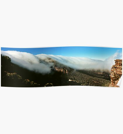 waterfall of clouds - The Grampians Poster