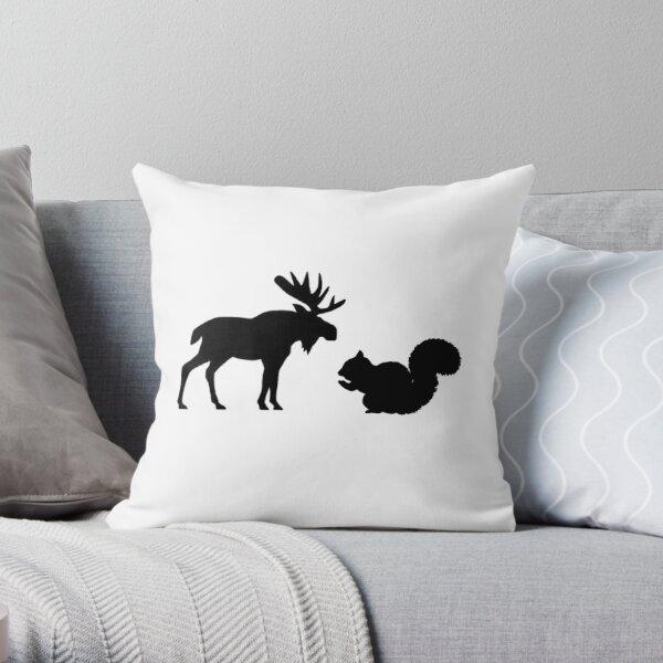 Moose & Squirrel Throw Pillow