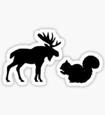 Moose & Squirrel Sticker