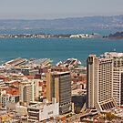 San Francisco Skyline with view of Treasure Island - California  by Buckwhite