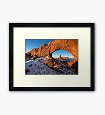 Arches National Park (Winter Time) Framed Print