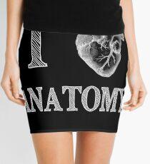 I Love Anatomy with Medical Anatomical Heart Mini Skirt