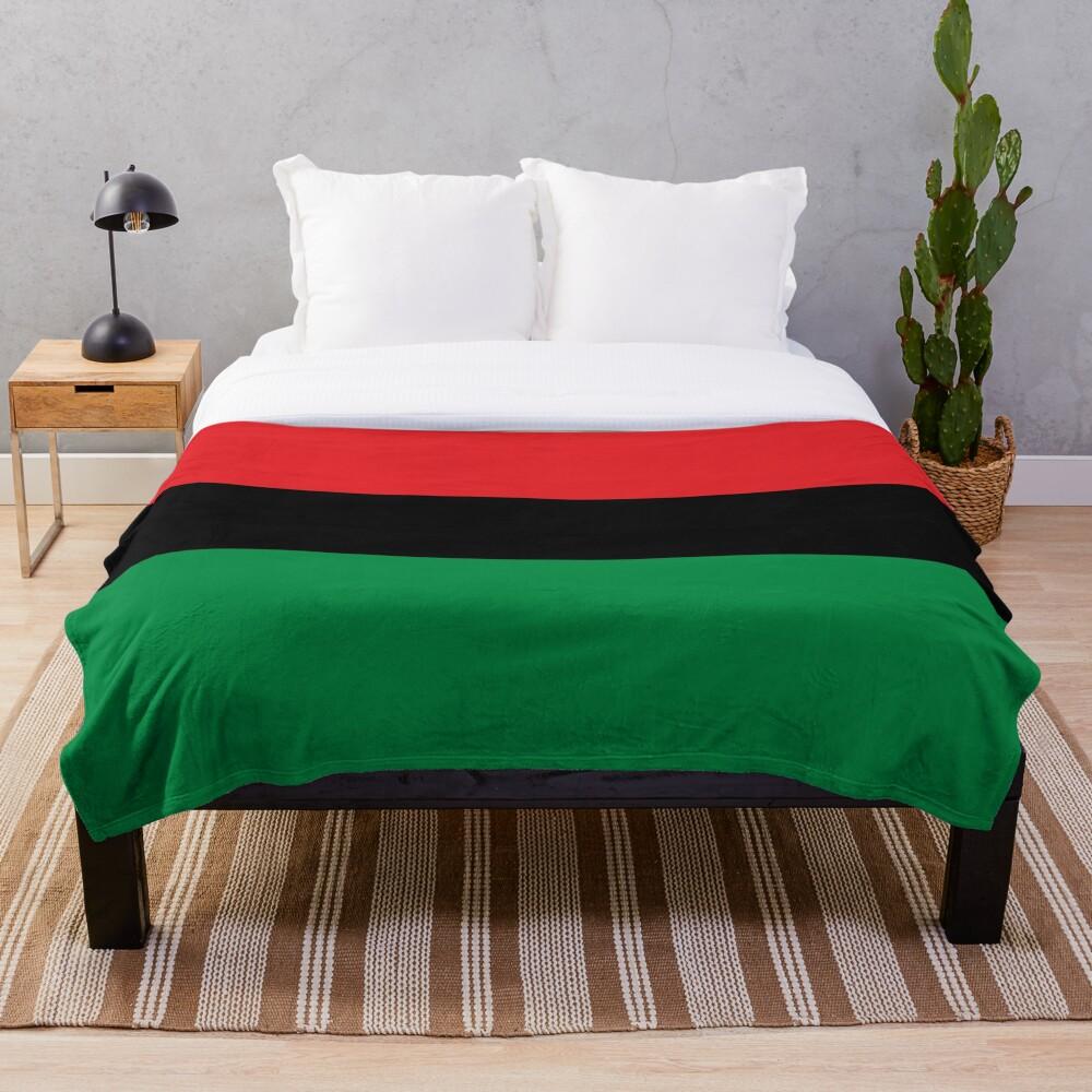 Pan African Flag T-Shirt - UNIA Flag Sticker - Afro American Flag Throw Blanket