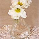 Bottled Begonia Flowers  by Sandra Foster