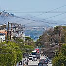 San Francisco Street View with Incoming Fog - California by Buckwhite