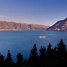 Sunset over Lake Wakatipu .2 by Alex Preiss