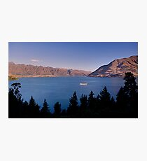 Sunset over Lake Wakatipu .2 Photographic Print