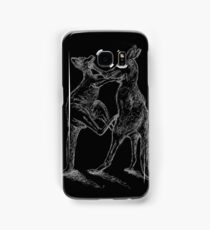 Boxing Roos - White Sketch Samsung Galaxy Case/Skin