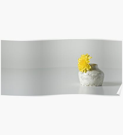 Vase With Yellow Flower Poster