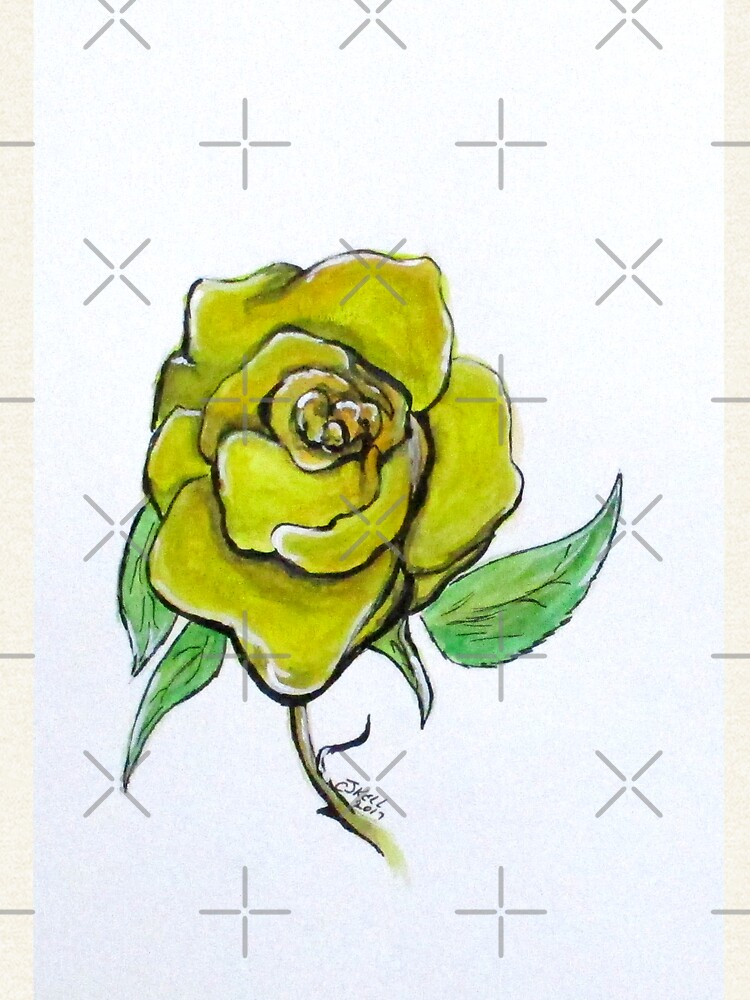 Yellow-Green Rose by cjkell
