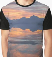 Glacier National Park Sundown Graphic T-Shirt