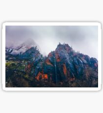 Zion National Park (Cloudy Day) Sticker