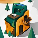 Cubist Villa Illustration by Mike Healy