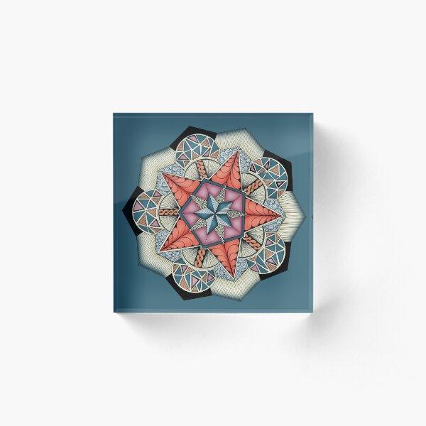 Pentacle Mandala Acrylic Block