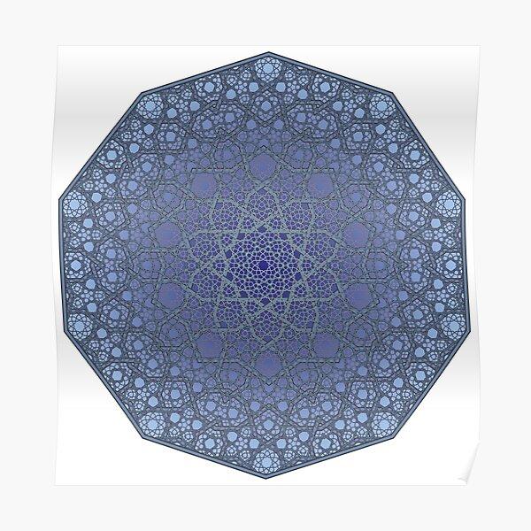 Fatty Star Flower Three Layer - Textured Poster
