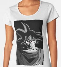 Goku Black And White Women's Premium T-Shirt