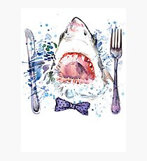 Hungry Great White Shark  Photographic Print