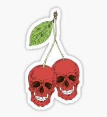 Skull Red Cherry Sticker