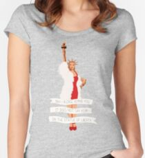 It Does Not Say RSVP On The Statue Of Liberty Women's Fitted Scoop T-Shirt