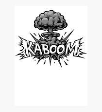 Kaboom Vintage Comic Explosiion Photographic Print