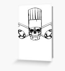 Chef Skull Greeting Card