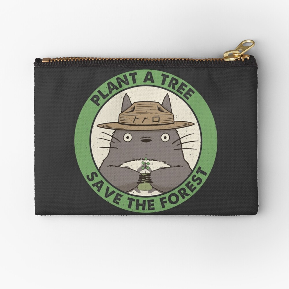 Save the Forest Zipper Pouch