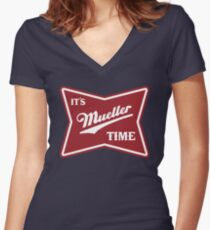 it's mueller time Women's Fitted V-Neck T-Shirt