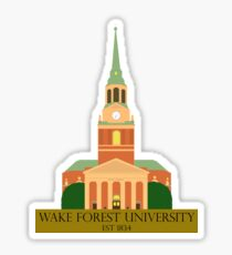 Wait Chapel at Wake Forest University Sticker
